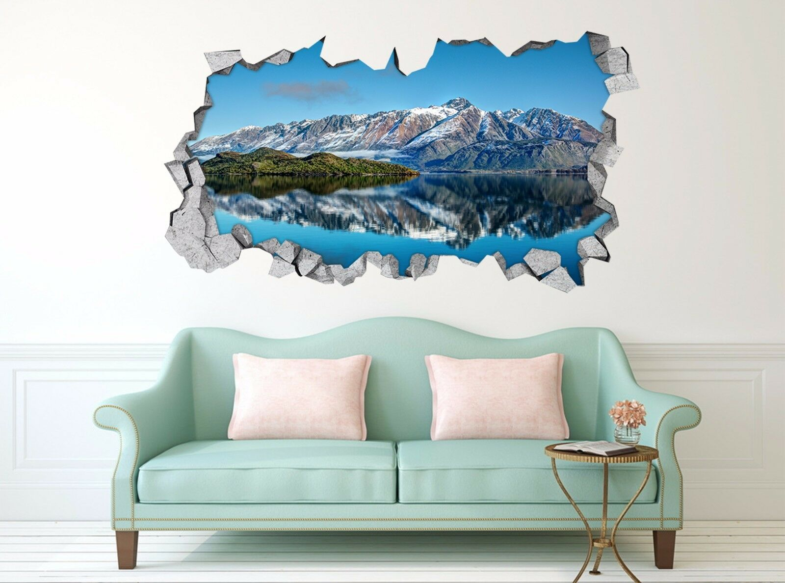 3D Wald Berg See 7  Mauer Murals Mauer Aufklebe Decal Durchbruch AJ WALLPAPER DE