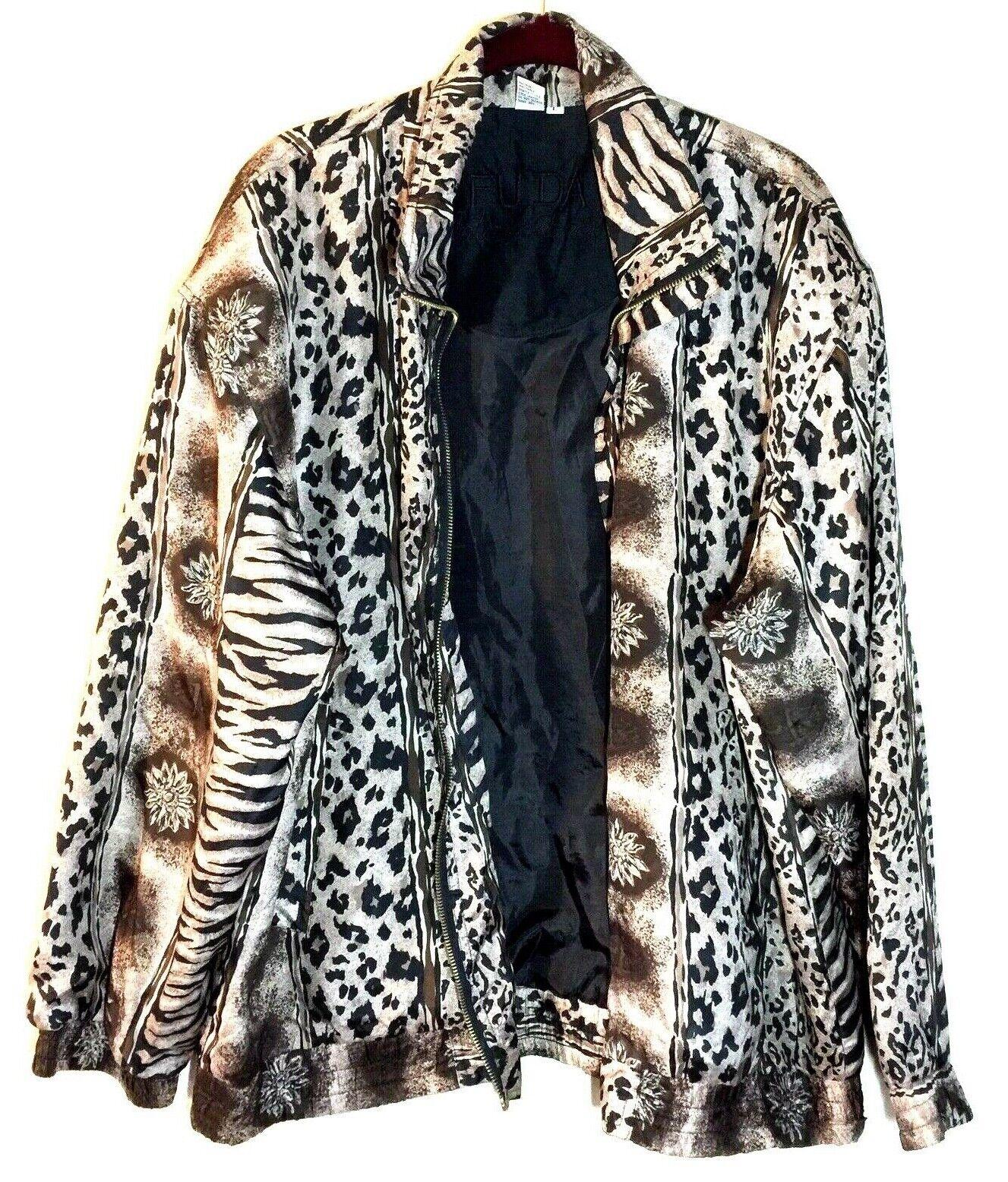 Women's Fuda International Zip Jacket ~ Sz L~ Ani… - image 2