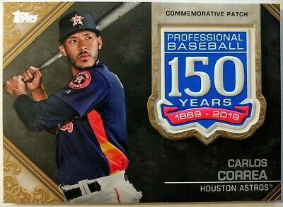 2019 TOPPS SERIES 1 * CARLOS CORREA #27/50 GOLD 150TH ANNIVERSARY PATCH * ASTROS | eBay