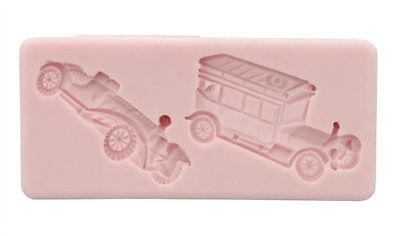 NEW! Antique Cars Mold (SM-028) for Cake Decorating, Sugar Flower, Fondant