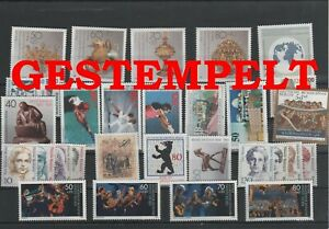Germany-Berlin-vintage-yearset-1988-Postmarked-Used-complete-More-Sh-Shop