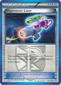 Hypnotoxic Laser - 123/135 - Uncommon NM B&W Plasma Storm Pokemon