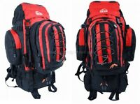 Camping Rucksack Backpack Hiking Detachable Day Back Pack Bag Red Large 50l