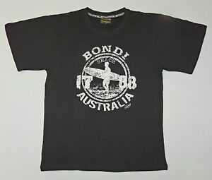 Men-Adult-Australia-Sydney-Bondi-Souvenir-T-shirt-Short-Sleeve-Top-Tee