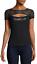 bebe-Logo-Shirt-Rhinestone-Lace-PEAKABOO-Top-Black-Stretch-2016-S-M-XL-R13 thumbnail 1