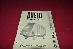 Gehl 910 Fourrage Box Wagon Operator's Pièces Manuel Mauricienne-afficher Le Titre D'origine 8ui7w1tz-08010602-794168555
