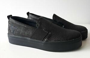 new style 06656 5d235 Details zu GUESS Damen Plateau Sneaker Slipper FLASIA schwarz glitzer Gr.  41 NEU