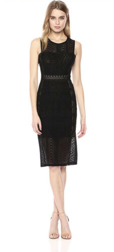 Womens BCBGMaxazria Black Lace Dress