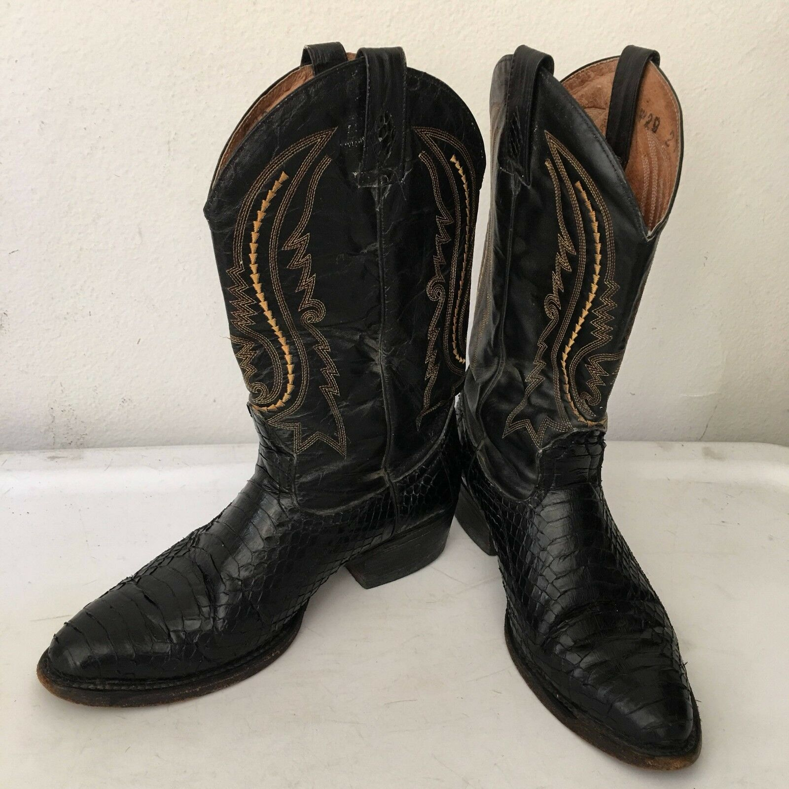 Real steep cowboy boots from real python leather vintage cowboy size-10-10 1 2