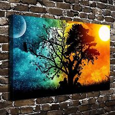 Sun Moon Lovers tree Paintings HD Print on Canvas Home Decor Wall Art Pictures