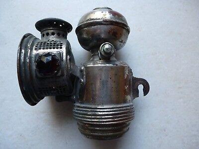 Rare Phare Carbure Acetylene Matthews Et Willard Lampe Velo Moto
