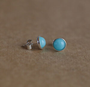 Sterling-silver-stud-earrings-with-natural-Azure-Blue-Chinese-Amazonite-gems