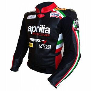 APRILIA Motorbike/ Motorcycle Leather Jacket MOTOGP Racing Biker Leather Jackets
