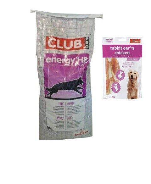 20kg Royal Canin Special Club Pro Energy HE Hochleistung  +  80g Fleischsnacks