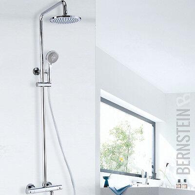 Duschset Regendusche Brause Set elegant rund Duschsäule Duscharmatur Thermostat