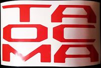Avt 2016 2017 Toyota Tacoma Decal Tailgate Letter Insert Inlays Vinyl Gloss Red