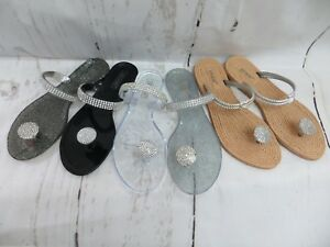 a7e30f9fa3f47 Image is loading MILAN-JELLY-SANDAL-WOMEN-SHOES-FLIP-FLOP-THONG-