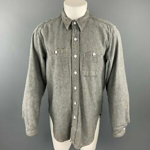 ENGINEERED-GARMENTS-Size-M-Gray-Cotton-Button-Up-Long-Sleeve-Shirt