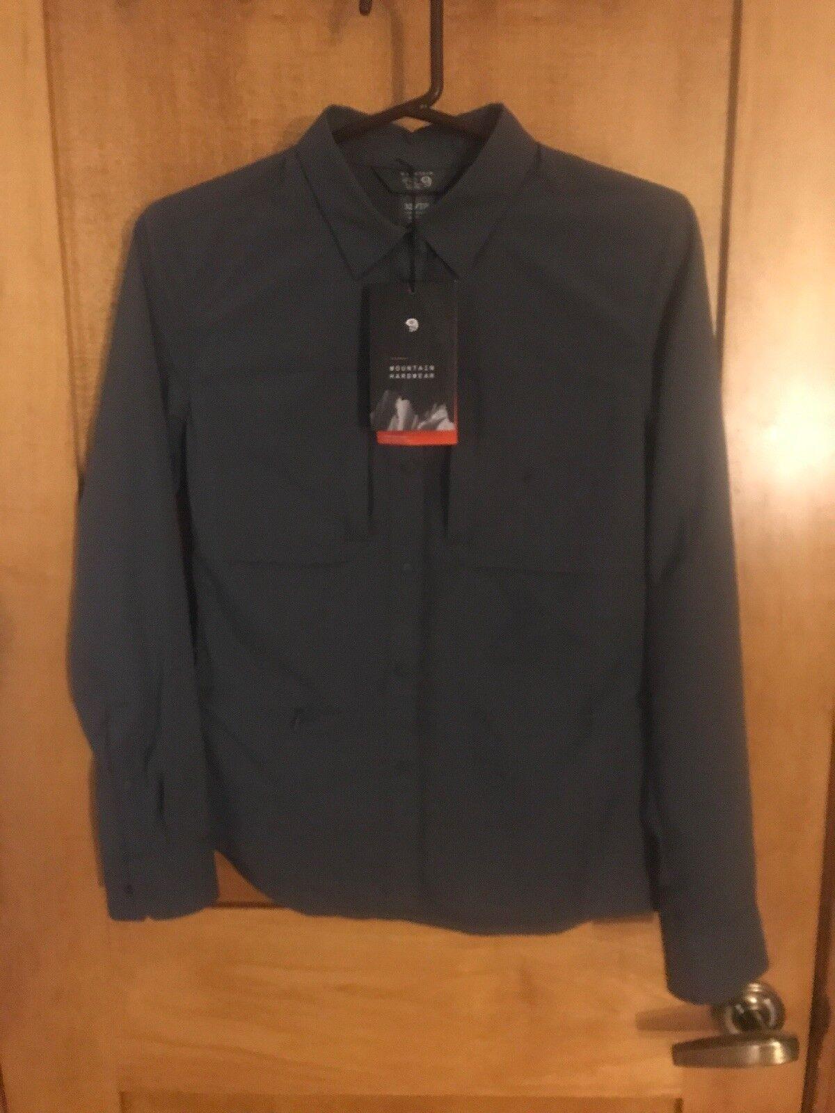 NWT Womens Mountain Hardwear Canyon Pro Long Sleeve Shirt - Black - XSmall