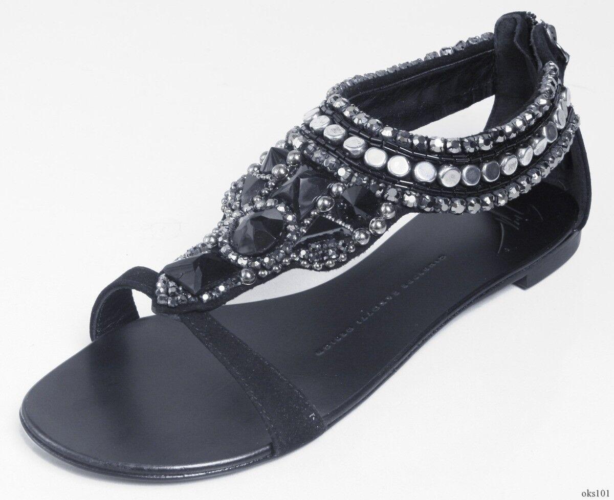 Nuevo  1500 Giuseppe Giuseppe Giuseppe Zanotti todas las joyas Pedrería Flats zapatos 36.5 US 6.5 - Arte  deportes calientes