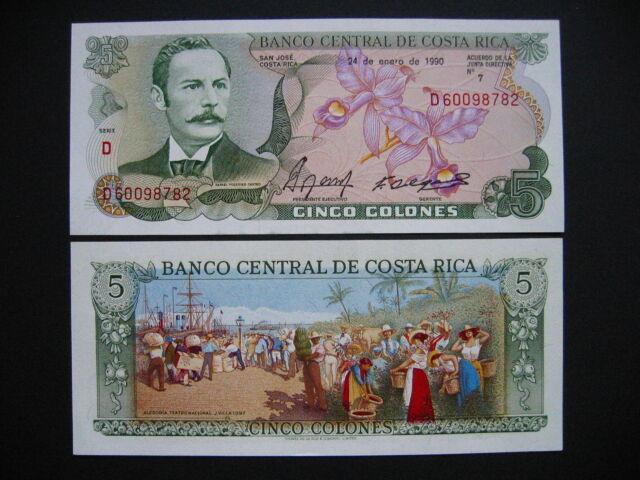 COSTA RICA  5 Colones 24.1.1990  (P236e)  UNC
