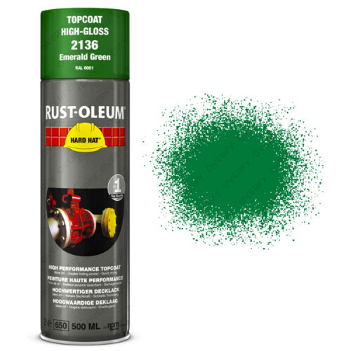 x10 Industrial RustOleum Emerald Green Spray Paint Hard Hat 500ml RAL 6001