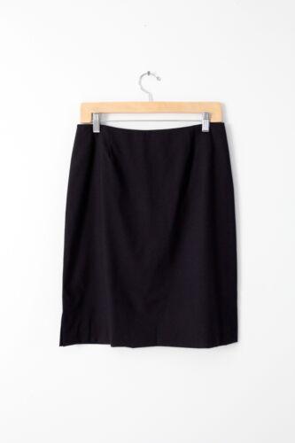 Leggiadro wool pencil skirt, stretch wool navy wig