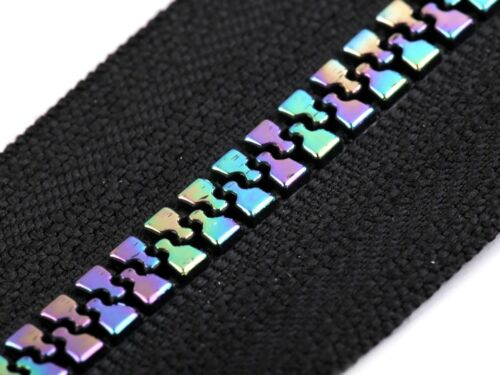 Regenbogen teilbar Reißverschluss Breite 5 mm Länge 40cm 50cm 60cm 70cm Jacke