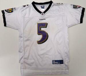Joe Flacco Baltimore Ravens Jersey Youth XL 18-20 White #5 On ...