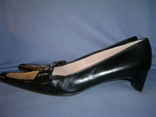 Mario Cerutti Black Leather Silver Chain & Mesh Pumps Shoes 39