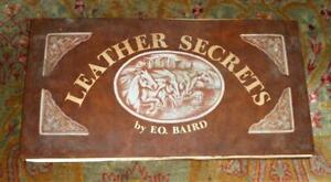 RARE: 1976 Leather Secrets by F. O Baird - Saddle makers art fold-out patterns