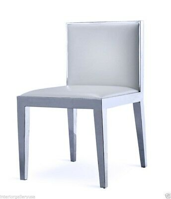 Dining Chair - Modern Dining Chair - Polished Chrome ...