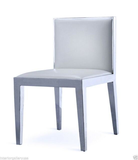 Super Dining Chair Modern Dining Chair Polished Chrome White Chair Trecenta Ncnpc Chair Design For Home Ncnpcorg