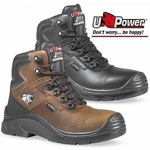 0d974404c4c Details about NEW U-POWER GORE-TEX COMPOSITE TOE CAP WATERPROOF LEATHER  MENS SAFETY BOOTS SIZE