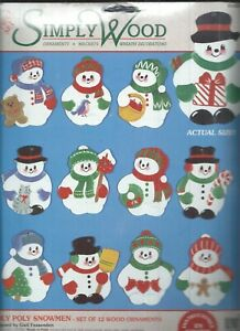 Roly Poly Snowmen Set Of 12 Wood Cutouts Ornaments Simply Wood By Mcg 01020 716448810209 Ebay