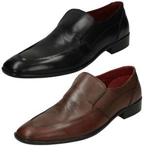 Hommes Maverick à Enfiler Cuir Bout Rond Habillé Smart Bureau Travail Chaussures
