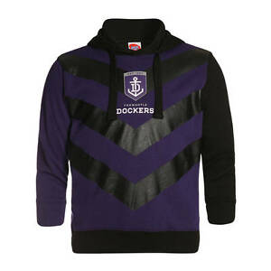AFL Fremantle Dockers Kids Youth Supporter Pullover Hoodie Hoody, sizes 10 12 14