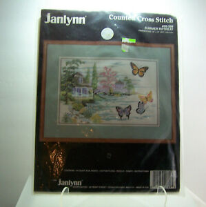 Janlynn-Summer-Retreat-Counted-Cross-Stitch-Kit-50-389-NEW-OLD-STOCK-1991