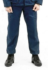 BDU Fatigue Pants Navy Blue Military Style Cargo Poly Cotton Rothco ... e33b71b69db