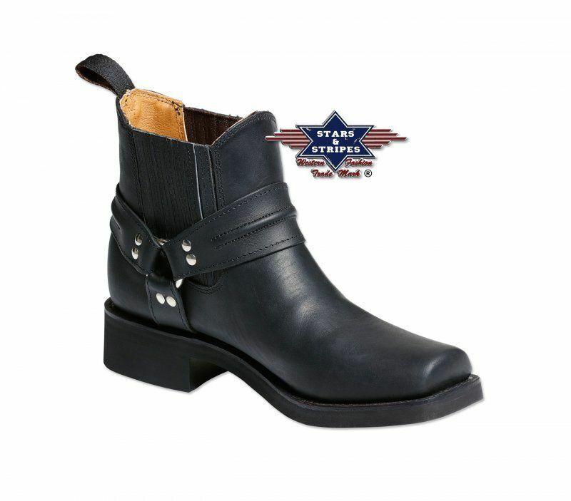 Stiefel, 43 Größe Herrenstiefel Westernstiefel, Stripes und