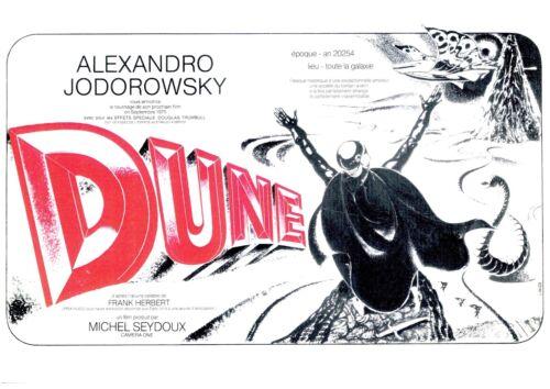 JODOROWSKY/'s DUNE Movie Poster Rare Promo Art