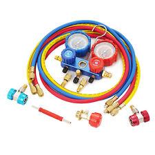 Hvac Ac Air Refrigerant Kit Ac Manifold Gauge Set Brass R134a R410a R22