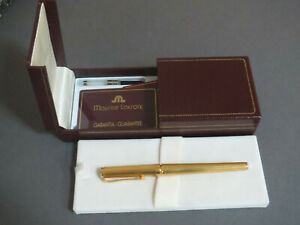 MAURICE-LACROIX-SCRIPT-LINE-FOUNTAIN-PEN-GOLD-PLATED-amp-18K-NIB-NEW-IN-BOX
