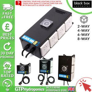 Importé De L'éTranger Black Box Contacteur - 2 Way/4 Way/6 Way/8 Way-grow Room Light Relay Timer-afficher Le Titre D'origine Frissons Et Douleurs