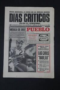 Antiguo Periodico PUEBLO, publicacion 14 Febrero 1972.  Bien conservado