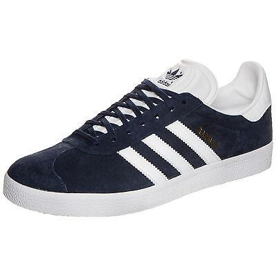 ADIDAS HAMBURG S74838 HERREN Gazelle Sneakers Turnschuhe Nobuck BLAU WEISS