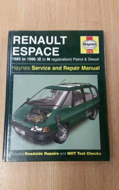 renault espace 1985 to 1996 petrol & diesel haynes workshop manual