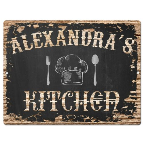 PP2504 ALEXANDRA/'S KITCHEN Plate Chic Sign Home Room Kitchen Decor Birthday Gift