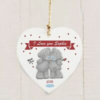 Me To You Wooden Personalised Romantic Heart Decoration Tatty Teddy