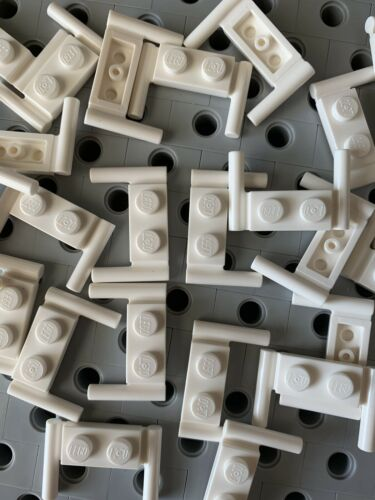Lego 1x2 White Plate Modified With Handles New Lot Of 25